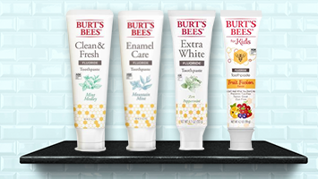 Burt's Bees toothpastes photo