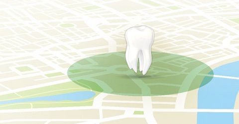 Tooth GPS map
