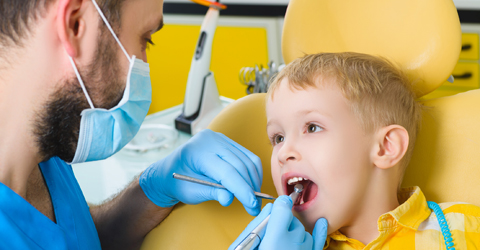 child at dentist office