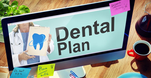 Dental plan information on a computer