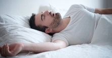 photo of man sleeping